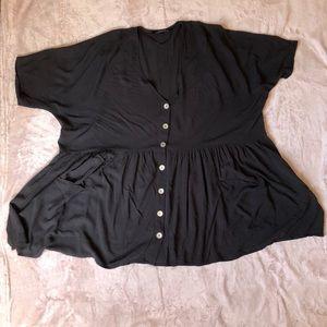 Zara oversized babydoll blouse size large